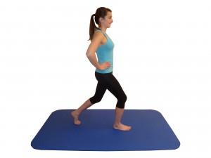 Kniebeugen Schrittstellung Übung 1 Anfang