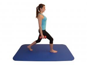 Kniebeugen Schrittstellung Übung 2 Anfang