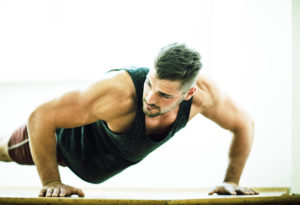 Muskelaufbau zuhause - Liegestütze